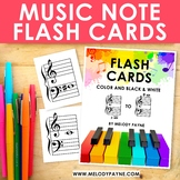 Music Note Flash Cards: Grand Staff Treble & Bass Notes