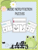 Music Note Fraction Puzzle