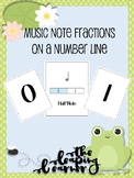 Music Note Fractions on a Number Line