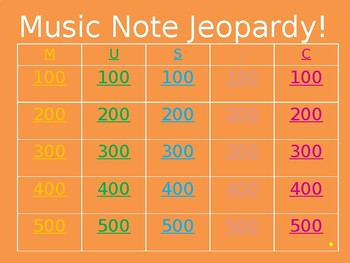 Music Note Jeopardy