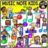 Music Note Kids Clip Art Bundle {Educlips Clipart}