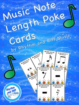 Music Note Length Poke Cards