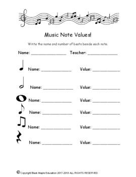 Music Note and Rhythm Mini Unit