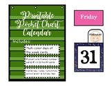 Music Note, Music Classroom Decor, Musical Theme Pocket Chart Calendar