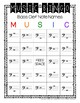 Music Note Name Bingo: Bass Clef with Ledger Lines