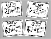 Music Note Name Classroom Signs