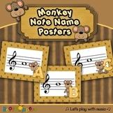 Music Note Names - Treble - Monkey Fun