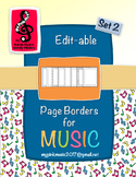 Music Note Page Borders for ALL Music Teachers (set #2)