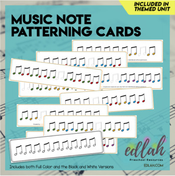 Music Note Patterning Cards