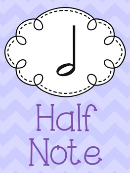 Music Note Posters- Chevron