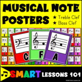 Music Note Posters: Colorful Classroom Decor: Music Bulletin Board Boomwhackers