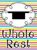 Music Note Posters- Rainbow
