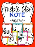 Music Note Posters - Treble Clef - Boomwhacker Colors