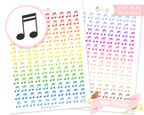 Music Note Printable Planner Stickers