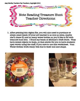 Music Note Reading Treasure Hunt Kit