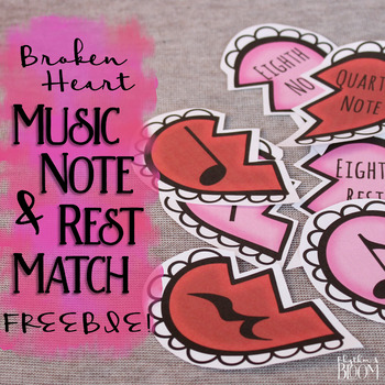Music Note & Rest Match | Valentine's Hearts