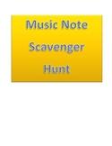 Music Note Scavenger Hunt
