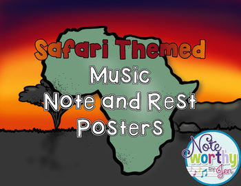 Music Note and Rest Posters {Animal Print, TWO sizes}