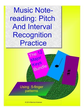 Music Notereading: Pitch & Interval Recognition Practice 12 Keys Bundle