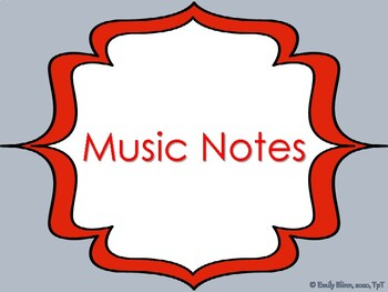 Music Notes Anchor Chart
