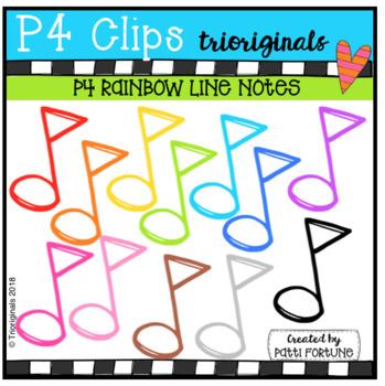 Music Notes BUNDLE (P4 Clips Trioriginals)