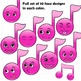Music Notes with Cartoon Faces Clipart