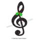 Music Notes: Christmas Glitter Music Notes Clip Art