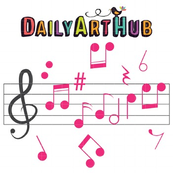 Music Notes Clip Art - Great for Art Class Projects!