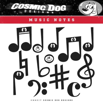 Music Notes Clip Art Set