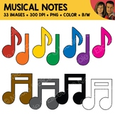 Rainbow Music Notes Clipart