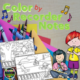 Music Notes - Color by Recorder Notes