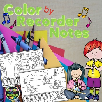 Music Notes - Color by Recorder Notes American and Canadia
