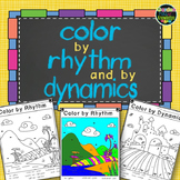 Music Notes - Color by Rhythm and Dynamics