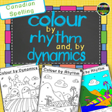Music Notes - Colour by Rhythm and Dynamics - Canadian