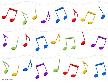 Music Notes Decor - Border and Cut-outs - Freebie