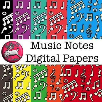 Music Notes Digital Paper