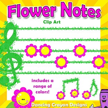 Music Notes - Flowers