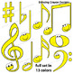 Music Notes: Happy Music Notes Clip Art Set