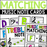 Music Notes Matching Flashcard Fun!  Treble and Bass Clef Activities