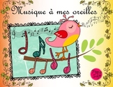 Music Notes Poster Set ~ French ~ Spring Birds