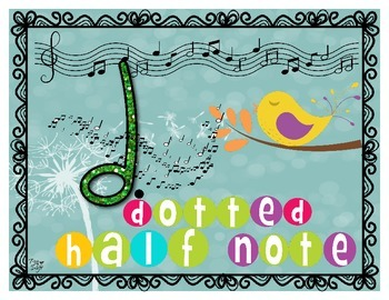 Music Notes Poster Set - Spring Birds