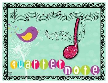 Music Notes Poster Set - Spring Birds