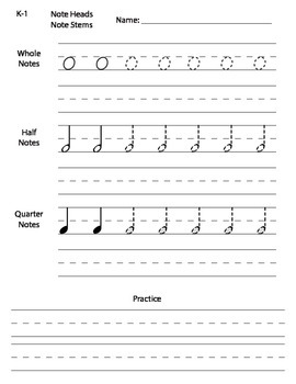 Music Notes Practice