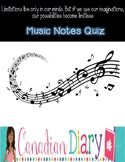 Music Notes Quiz - Mix and Match