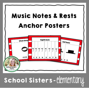 Music Notes & Rests Anchor Posters