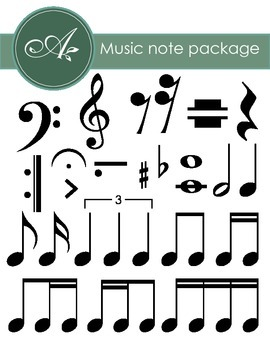 Music Notes, Rests and Notations