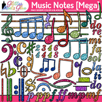Music Notes Clip Art MEGA BUNDLE {Rhythm, Notation, and Symbol Graphics}