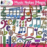 Music Notes Clip Art: Rhythm, Notation, & Symbol Graphics 3 {Glitter Meets Glue}