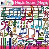 Music Notes Clip Art MEGA BUNDLE {Rhythm, Notation, and Sy