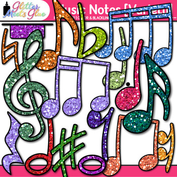 Music Notes Clip Art {Rhythm, Notation, and Symbol Graphics VARIETY PACK}